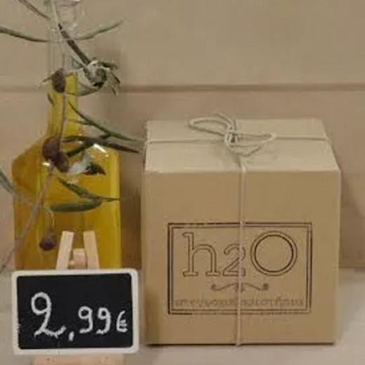 Τριμένο λευκό σαπούνι ελαιολάδου 200gr.
